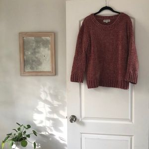 Rose pink chenille sweater